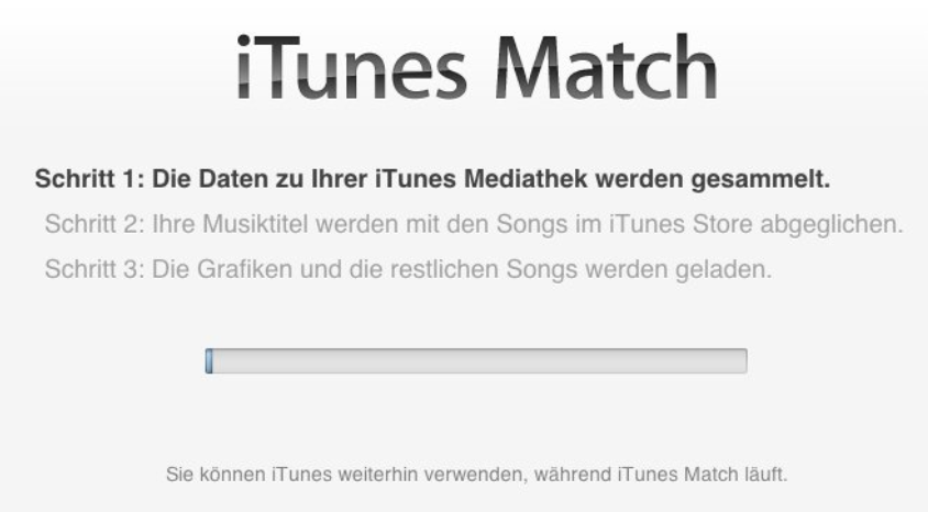 iTunes Match – Leiden in der Wolke