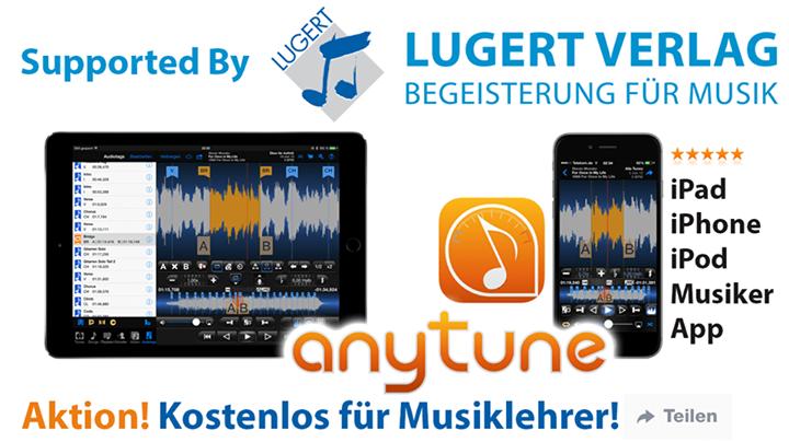 Anytune für iOS kostenlos für Musiklehrer