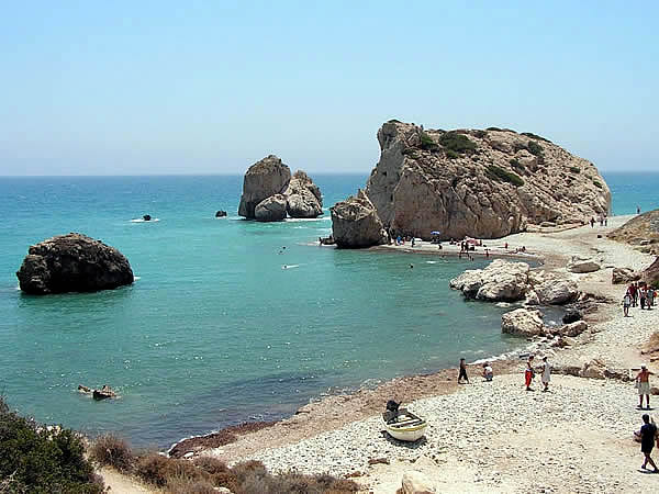 Roca De Afrodita Petra Tou Romiou Paphos Chipre. Author Paul167. Licensed Under Creative Commons Attribution
